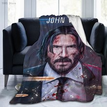 John Wick Blanket, Throw Flannel Blanket,Fuzz Warm Throws,Sherpa Fleece Throw Blankets for Traveling Camping Home Bedding