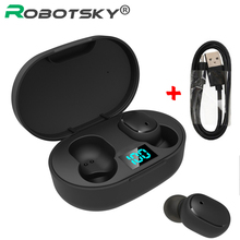 TWS אלחוטי Bluetooth אוזניות 5.0 ספורט אוזניות אוזניות רעש ביטול עם מיקרופון עבור iPhone Huawei סמסונג Xiaomi Redmi