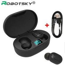 TWS bezprzewodowe słuchawki Bluetooth 5.0 sportowe słuchawki douszne redukcja szumów z mikrofonem dla iPhone Huawei Samsung Xiaomi Redmi