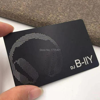 Hot-sale Round Corners Black Metal Cards For Business