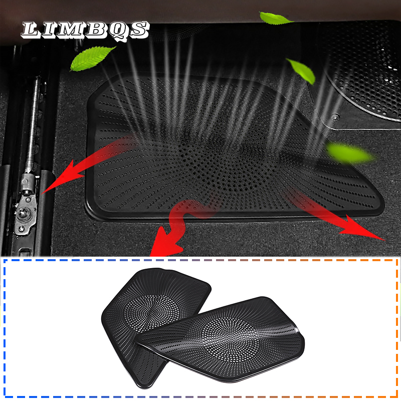 For G30 Under Seat AC Heater Stickers Floor Conditioning Duct Vent Outlet Inlet Grille Trim Cover For BMW New 5 Series 2018-2019