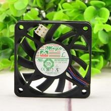 For Magic MGT6012MR-A10 DC 12V 0.12A 60x60x10mm 3-wire Server Cooling Fan emacro for m huaxia mengtai da08025b12ur dc 12v 0 5a 80x80x25mm 3 wire server square fan