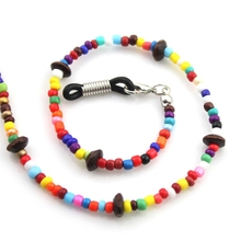 Reading Glasses Chain Mixed Color Bead Sunglasses Holder Eyewear Neck Strap Rope