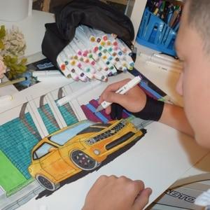 Image 5 - Touchfive Dấu 40/60/80/168 Màu Sắc Đôi Đầu Sketchmarker Cho Vẽ Manga Nghệ Thuật Đánh Dấu Rượu Mực In Nghệ Thuật Tiếp Liệu với 6 Quà Tặng