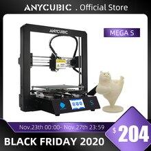 ANYCUBIC 메가 S 3D 프린터 I3 메가 시리즈 업 그레 이드 전체 금속 프레임 Impresora 3D 인쇄 고정밀 DIY 3D 프린터