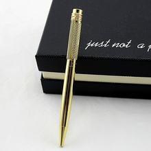 Высококачественная металлическая шариковая ручка с золотым зажимом