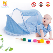 Foldable New Baby Bed with Mosquito Net Baby Bedding Crib Netting Bed Mattress Pillow for 0-3 Year Old