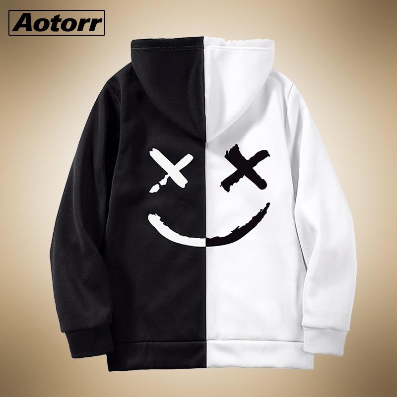 2020 Man Autumn Winter Zipper Casual Hoodied Mens Sweatshirts Solid Hoody Fleece Patchwork Hoodies Men Sportswear Sweatshirts