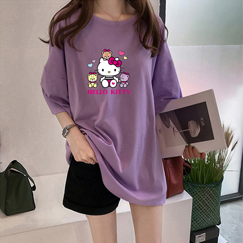 Y3070 Hello Kitty 2020 New Women T-shirts Casual Harajuku Love Printed Tops Tee Summer Female Short Sleeve T Shirt Clothing