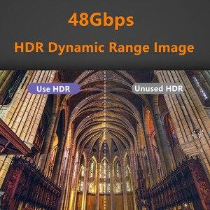 Image 5 - Fibre optique HDMI 8K 2.1 câble 48G 120HZ avec Audio vidéo HDMI cordon ultra hd HDR 4:4:4 perte amplificateur pour PS4 HDTV projecteur
