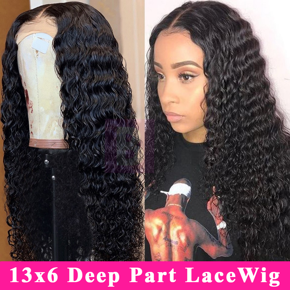 Deep Wave Lace Front Human Hair Wigs Pre Plucked Hairline 13x4/13x6 Lace Front Wig 8-24 Inch Indian Remy Hair For Black Women