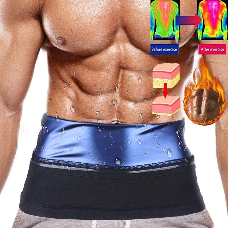 Тренажер для талии для Для мужчин талии триммер сауна тренировки Body Shaper неопрена талии Cincher Пояс для похудения с эффектом сауны для Для мужч...