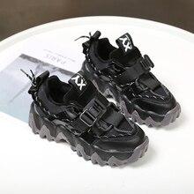 النساء منصة أحذية رياضية مكتنزة 5 سنتيمتر الارتفاع زيادة أحذية Vulcanize الفاخرة مصمم أبي القديم الإناث موضة أحذية رياضية 43