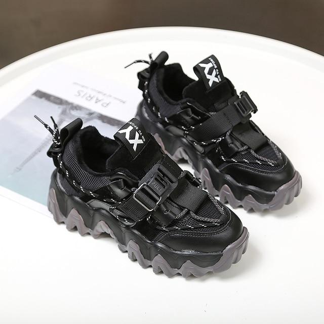 Baskets de luxe à plateforme épaisses pour femme, chaussures de 5cm, vulcanisées rehaussées, pour vieux papa, tennis à la mode, 43