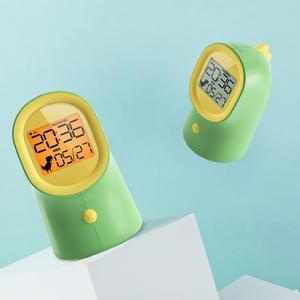 Calendar Alarm-Clock Bedside-Night-Light Time Display Digital Kids Electronic Silent