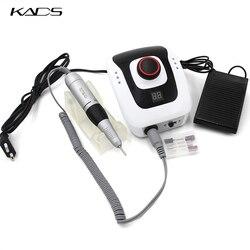 KADS 40W 35000RPM Uña de manicura eléctrica juego de máquina de taladro para equipo de pedicura de uñas herramientas eléctricas para limas de uñas