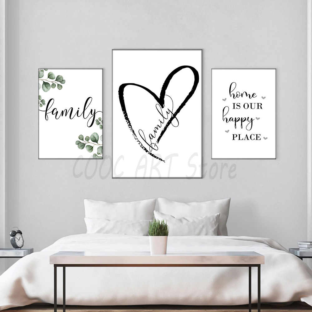 Nordic Modern Style Simple Family Posters Art Canvas Pictures for Living Room Decor Painting Unframed