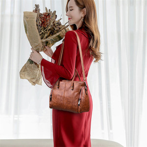 Image 2 - Casual Tote Bag Leather Luxury Handbags Women Bags Designer Handbags High Quality ladies Crossbody Hand Bags For Women 2020 Sac