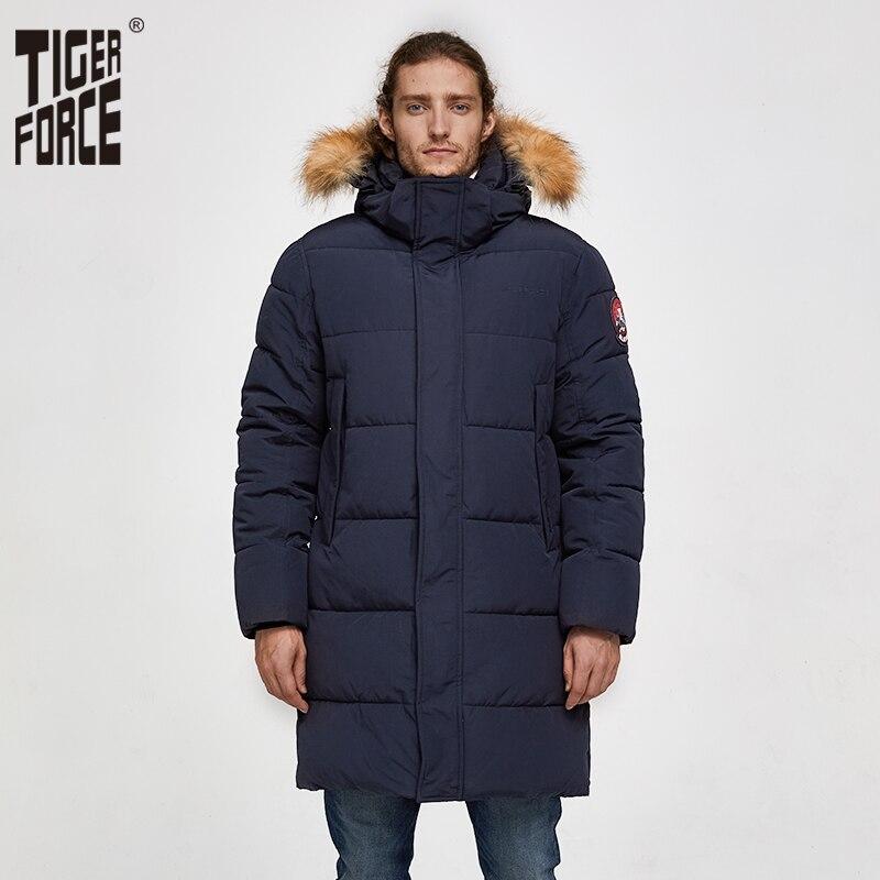 타이거 포스 남자 파카 겨울 자켓 남자 긴 알래스카 자켓 코트 인공 모피 후드 겨울 남성 자켓 두꺼운 방수 아웃웨어-에서파카부터 남성 의류 의  그룹 1