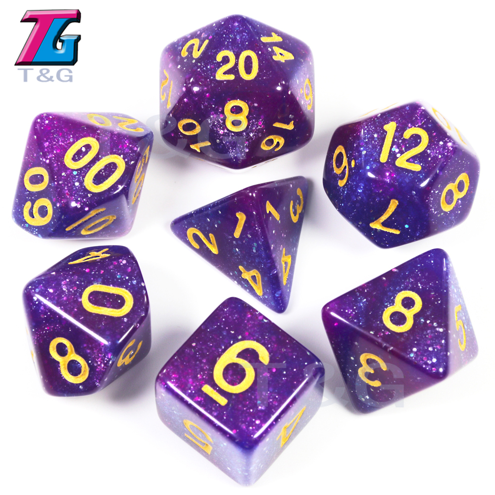 2019 Galaxy Purple /& Black Dice Set
