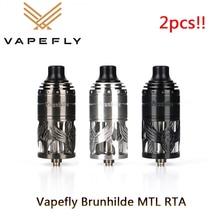2個! !Vapefly brunhilde mtl rta電子タバコ5ミリリットルアトマイザーシングルコイルビル & 6レベル気流蒸気を吸う気化vsゼウスx