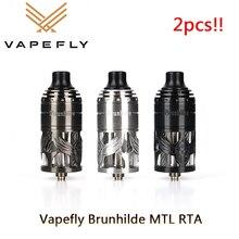 2pcs!! Vapefly Brunhilde MTL RTA E Sigaretta 5ml Atomizzatore Single Coil Building E 6 Livelli di Flusso Daria Vape Vaporizzatore vs Zeus X