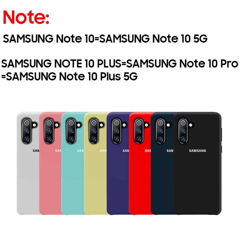 Samsung Note 10 Plus Resmi Resmi Samsung Galaxy S8 S9 S10 S10e Note 8 9 10 Plus 5G pro Lembut Silikon Case Belakang