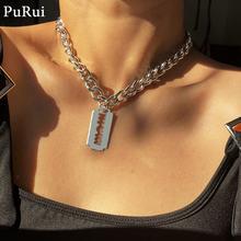 Готическая цепочка purui ожерелье чокер для женщин и мужчин