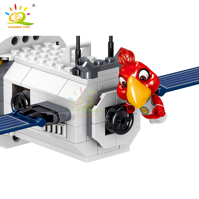 HUIQIBAO 594PCS Spacecraft Building Blocks set City Aerospace Space Shuttle ship model Bricks City Toys For Children friends
