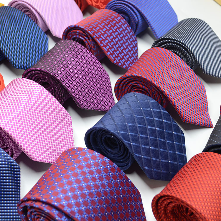 2019 New Men Tie Gold Navy Striped 100% Silk Tie Jacquard Party Wedding Woven Fashion Designers Necktie For Men