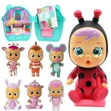 Caja ciega de 13cm para bebé llorón, muñeca de dibujos animados Kawaii, Juguete musical Reborn, muñeca sorpresa para bebé