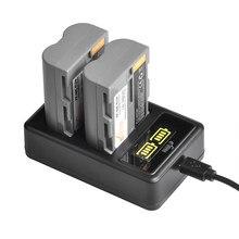 1900Mah EN-EL3E En EL3e Batterij + Led Dual Charger Voor Nikon D50, D70, D70s, D80, d90, D100, D200, D300, D300S, D700