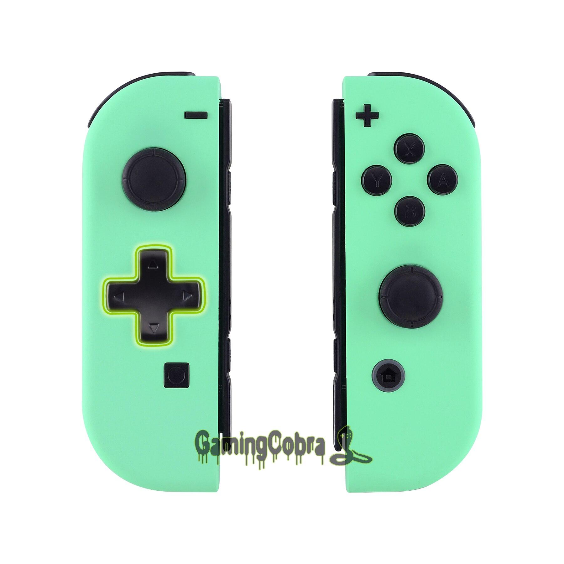 Toque suave de Menta Verde Caixa do Controlador (D-Pad Versão) w/Botões Conjunto Completo DIY Shell de Substituição para Nintendo Interruptor Alegria-Con