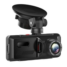 3.16 Inch Front And Rear Dash Dual Dash Cam 1080P For Cars Parking Emergency Security