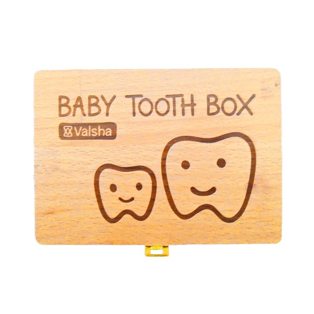 Baby Wood Teeth Box For Save Teeth Organizer Baby Milk Wooden Storage Box Baby Hair Teeth Umbilical Cord Collection Case