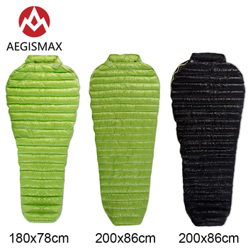 AEGISMAX MINI Outdoor Camping Ultralight White Goose Down Sleeping Bag Lazy Bag Mummy Spring Autumn Adult Bag white goose down sleeping bag winter fan shape with sack ultralight lengthened outdoor camping hiking fp800 215x78cm