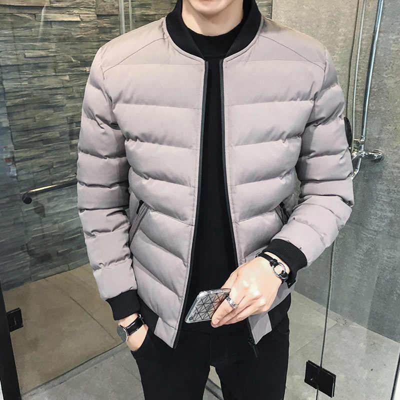 男性のジャケットの冬 2019 新しいスタイル綿が詰めジャケット韓国スタイルスリムフィットショート羽毛綿が詰め服ハンサム