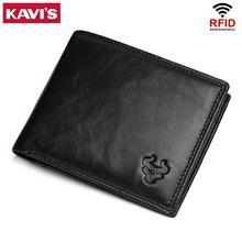 KAVIS Kuh Echtes Leder Männer Brieftaschen mit Münzfach Kleine Männlichen Geldbörse Mini Funktion Braun Aus Echtem Leder mit Karte Halter