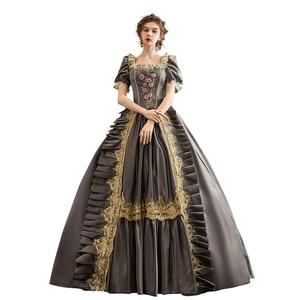 Бальное платье Рококо барокко Мария-Антуанетта Платье 18-го века платье эпохи Возрождения исторический период Викторианский наряд для женщ...