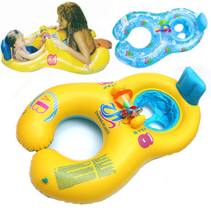 Mother Kids Inflatable Circle Safety Baby Float Swimming Circle Baby Accessories Swimming Pool Inflatable Buoy Children's Float