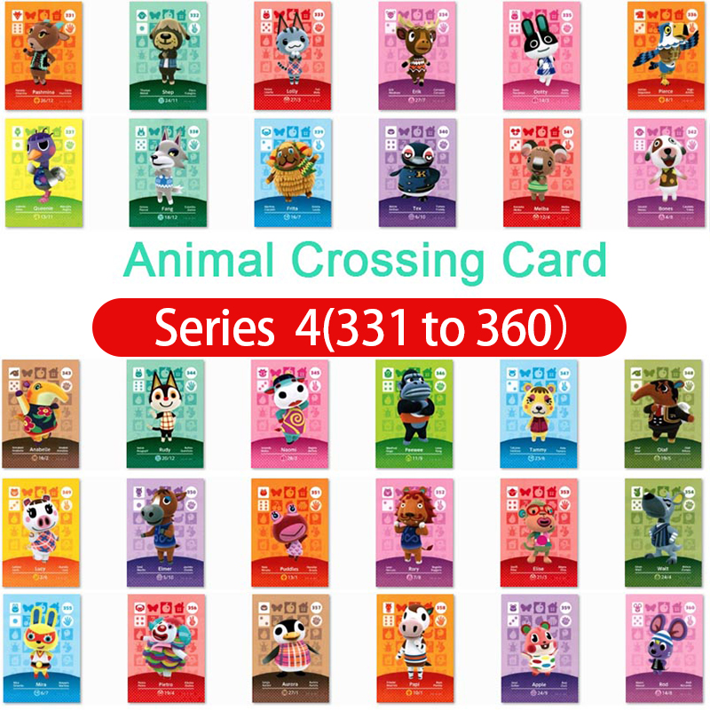 Animal Crossing Amiibo Card Amiibo Card Animal Crossing Series 4 Nfc Card 331 To 360 Work For Ns Games Fast Shipping