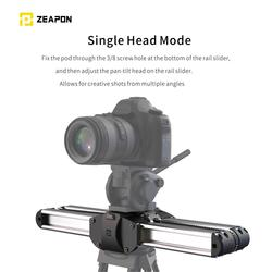 Professional Photography Portable Camera Rail Slider Track Aluminum Alloy Pocket for DSLR and Mirrorless Cameras Travel Distance