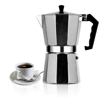 Coffee Pot Coffee Maker Aluminum Mocha Coffee Pot offee Maker Moka Pot Stovetop Coffee Maker 1cup/3cup/6cup/9cup/12cup image