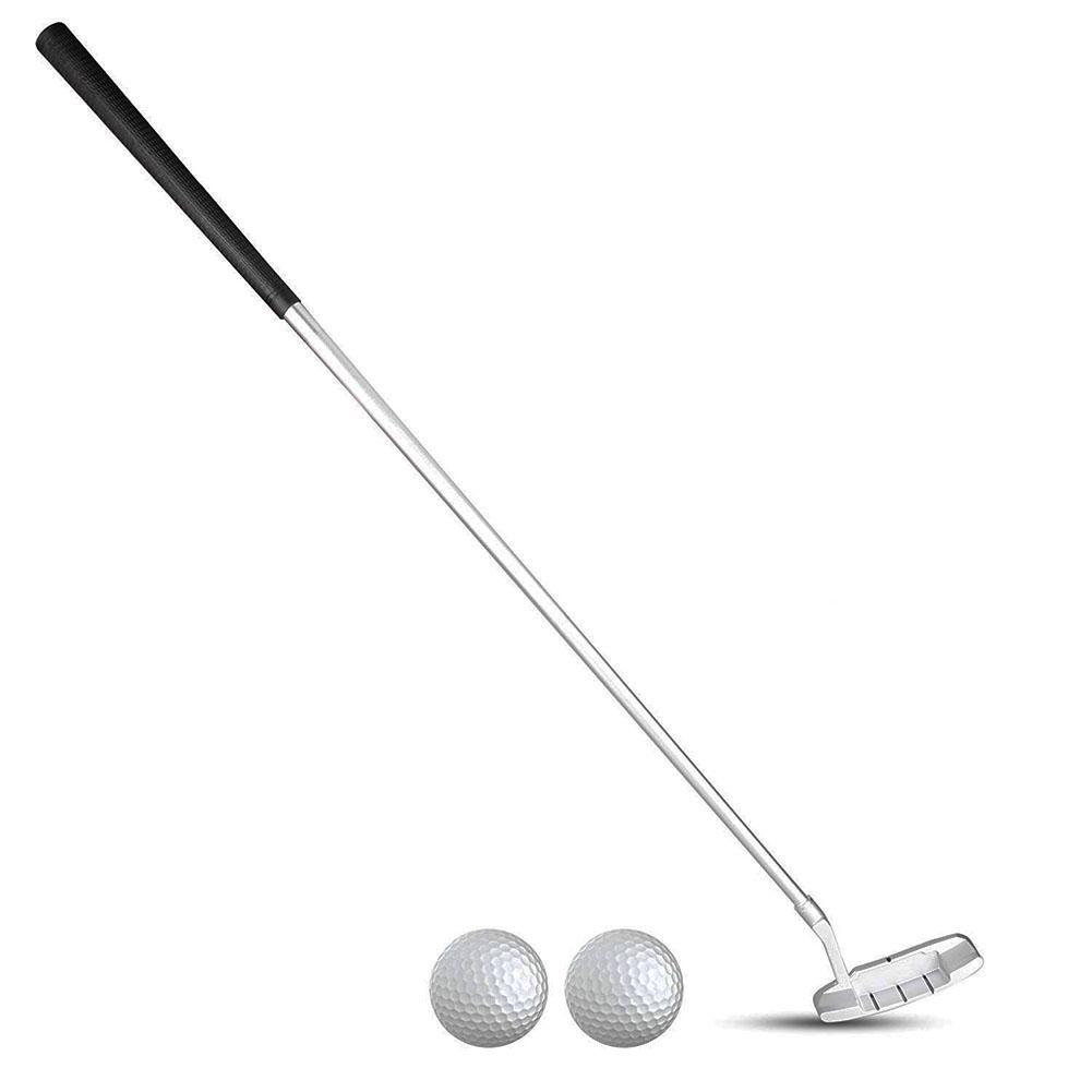 Golf Putter  Golf Club Zinc  3 Section Folding Alloy Portable Golf Putter For Indoor Outdoor
