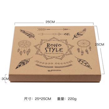 Bolsa de papel Kraft atrapasueños de estilo bohemio, caja de regalo hecha a mano, caja de amor para bodas, regalo para mujeres y niñas