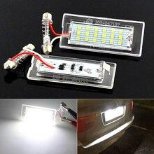2 adet CANbus araba için LED numarası plaka işık BMW araba E53 X5 1999 2003 E83 X3 03 10 NJ88 gövde ampuller 18Leds 6000K 12V lamba