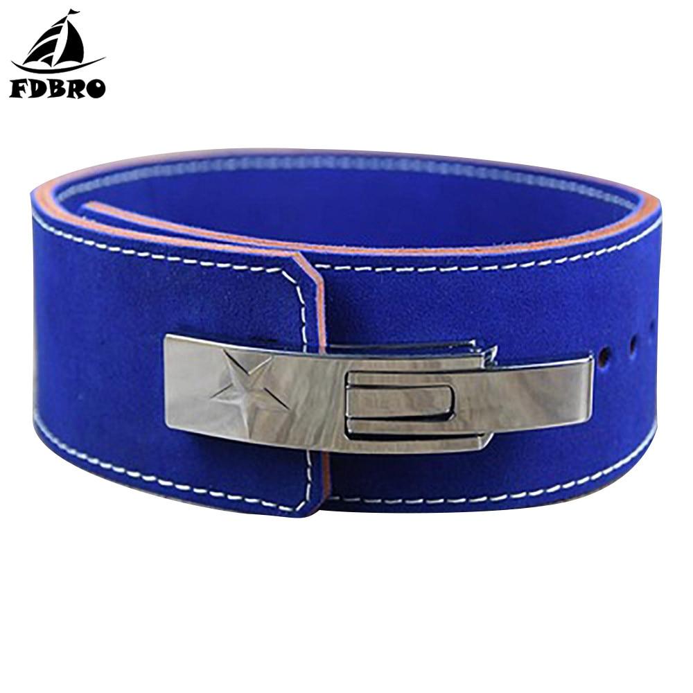FDBRO New Bodybuilding Weight Lifting Belt Leather Men Lumbar Protection Gym Fitness Training Squats Powerlifting Back  Belt