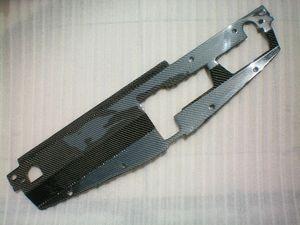 Placa de refrigeración del radiador de fibra de carbono para 03 05 06-07 Mitsubishi Lancer Evo 7 8 9