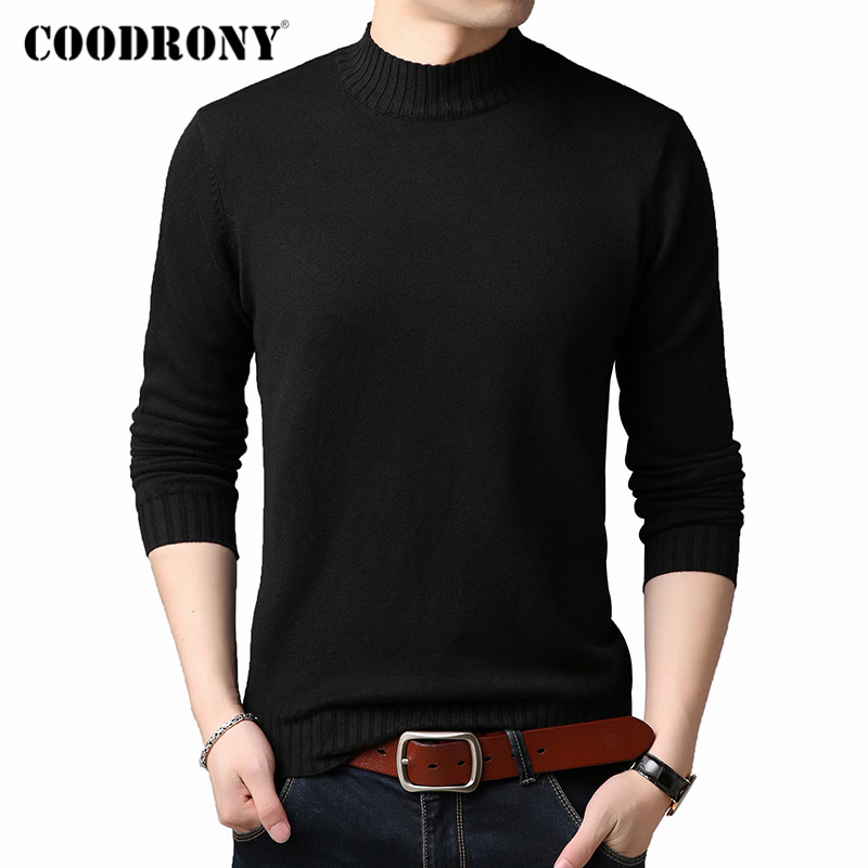COODRONY Brand Turtleneck Sweater Men Casual Pull Homme 2019 Winter Thick Warm Sweaters Soft Knitwear Pullover Men Clothes C1002