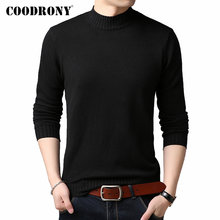 Coodrony marca camisola de gola alta masculino casual pull homme 2019 inverno grosso quente suéteres malhas macio pulôver roupas masculinas c1002(China)